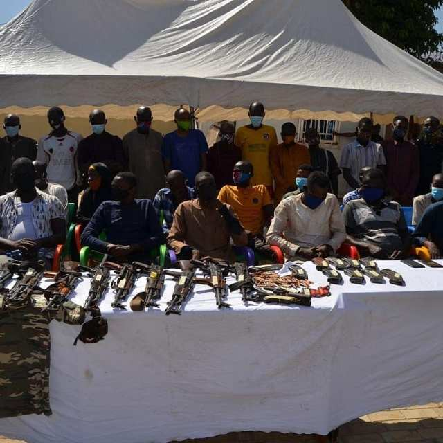 Police Arrest 35 Suspects Including One Female For Armed Robbery, Kidnapping, Others