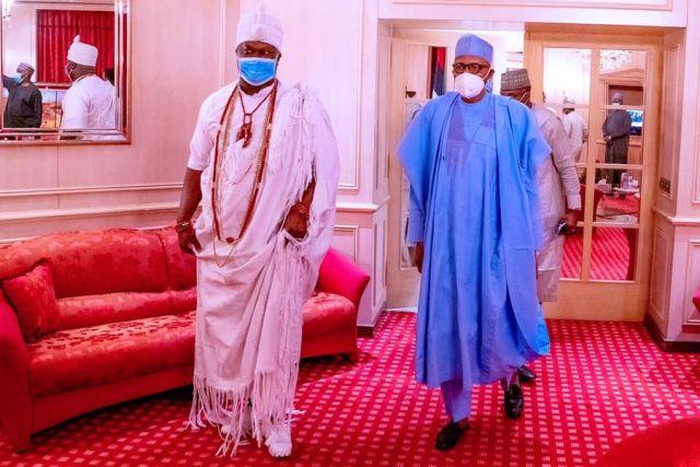 Ooni of Ife meets Buhari in Abuja