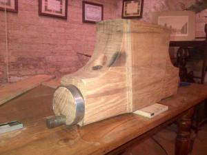 Ricostruzione di un ceppo, in accordo con la tradizione costruttiva storica Reggiana.