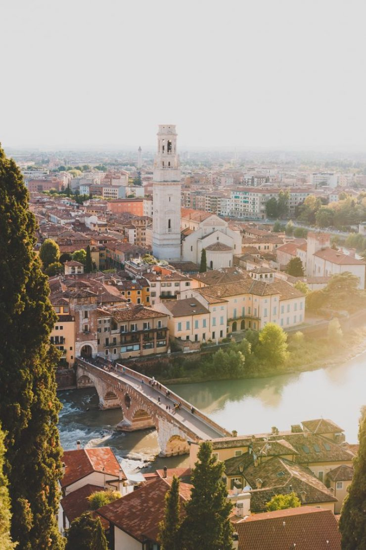Ausblick auf Verona vom Castel San Pietro.