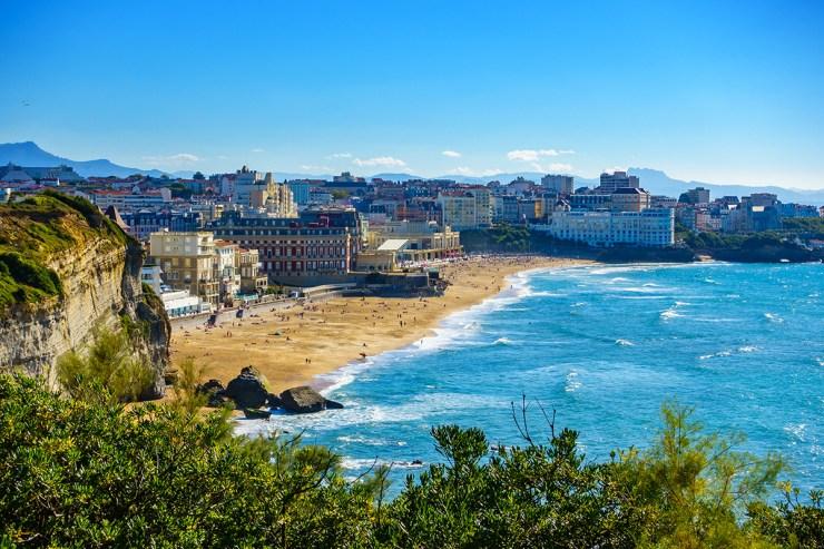 Die französische Stadt Biarritz