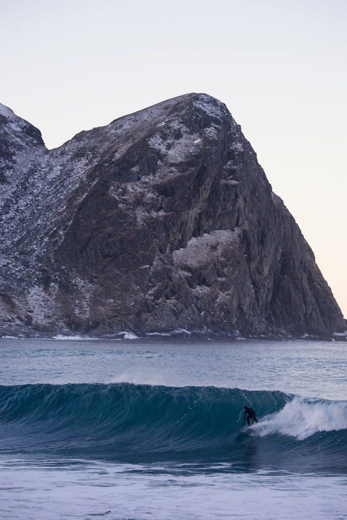 Surfer in Norwegen