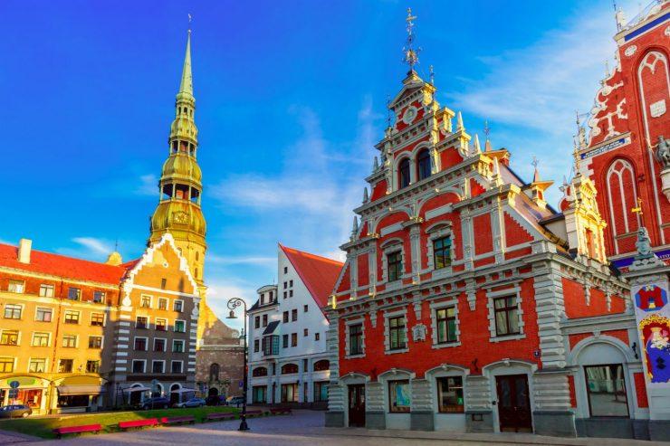 Bunte Häuserfassaden in Riga