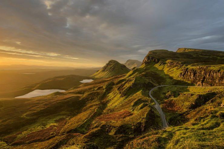 Felsige Landschaft in Großbritannien