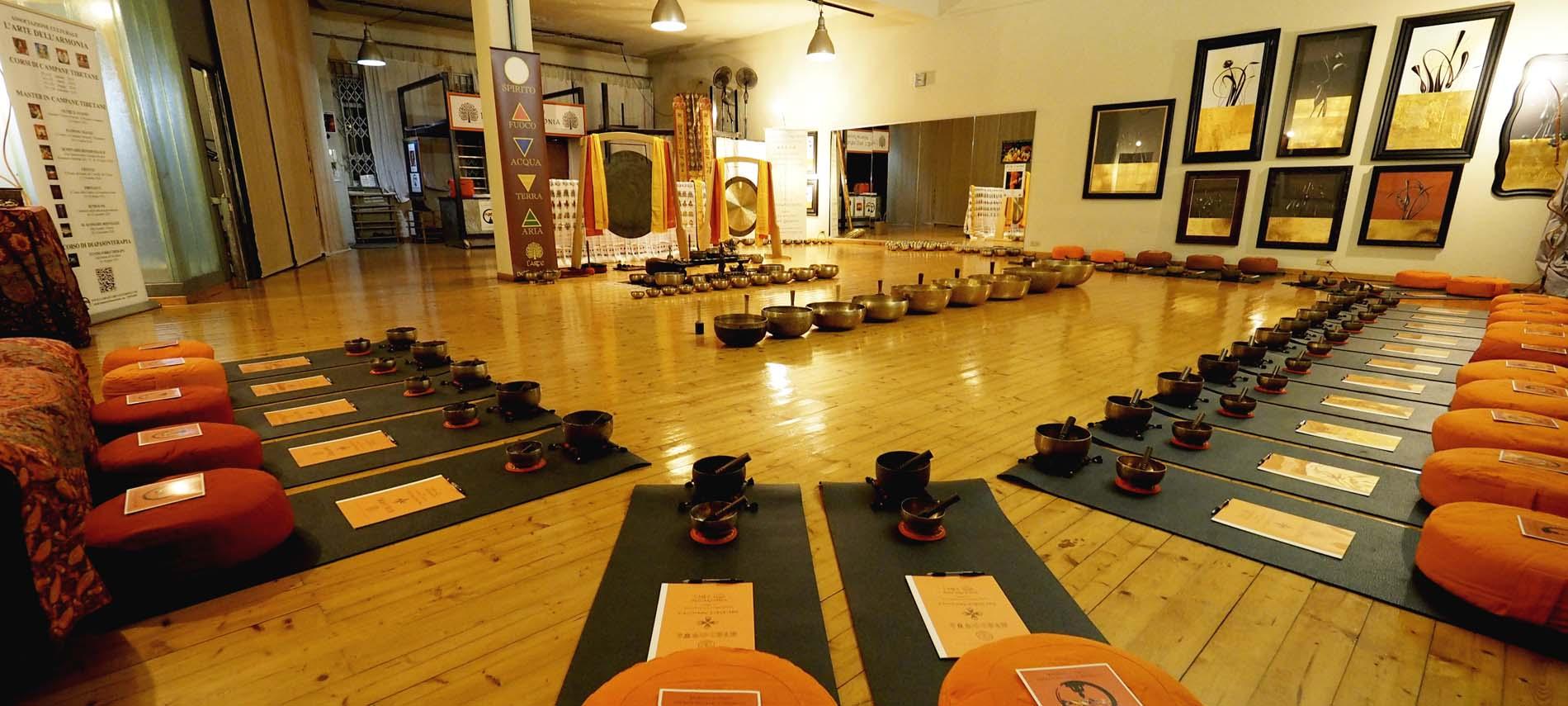 Campane Tibetane Torino Sala Corsi e Master di Campane Tibetane