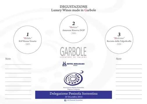 Degustazione di Vini Garbole a Castellammare con Ais