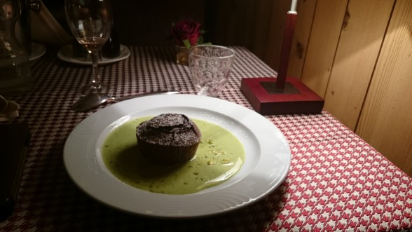 Fondant in almond and mint sauce. Absolutement splendide!
