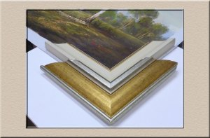 Samples can help in deciding the right frame when picture framing