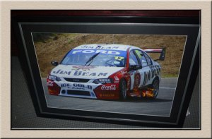framed racing car at Campbelltown Framing Gallery