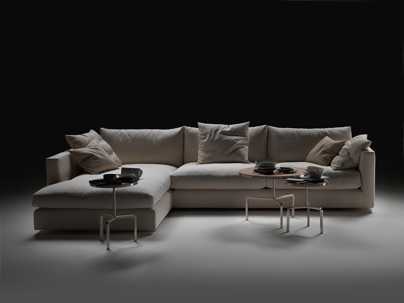 down filled leather sectional sofa 24 salon namestaja flexform magnum | buy from campbell watson