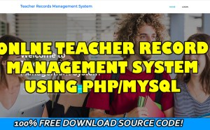 teacher record management system