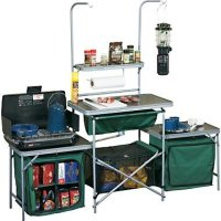 Outdoor Heavy Duty Standard Campers Kitchen, Great for Camping and Hiking or Trips At the Camp Site Giving You the Ability to Create and Cook Meals At Your Own Comfort - Comes with a Carry Bag for Portable Use When Your on the Go, Features a 16-gallon PVC Sink with Drain, Made with a 19m Steel Frame for Guaranteed Durability Camping Equipment, Be Prepared for the Summer and Give Your Family a Reliable Source on Your Next Vacation! On Sale Limited Offer