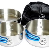 Alb Stainless Steel Camping Cook Set - 3 Pieces