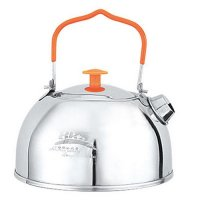 BRS 1.1L Camping Teapot Camp Kitchen Portable Ultralight Outdoor Hiking Coffee Water Kettle Pots
