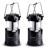 2 Pack LED Lantern Flashlights - Camping Lantern - Collapses - Suitable for: Hiking, Camping, Emergencies - Lightweight - Water Resistant