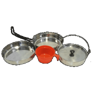 Mountain Summit Gear Stainless Steel Mess Kit