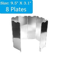 DerBlue Aluminum Lightweight Folding Camp 8 Plates Stove Windscreen Windshield
