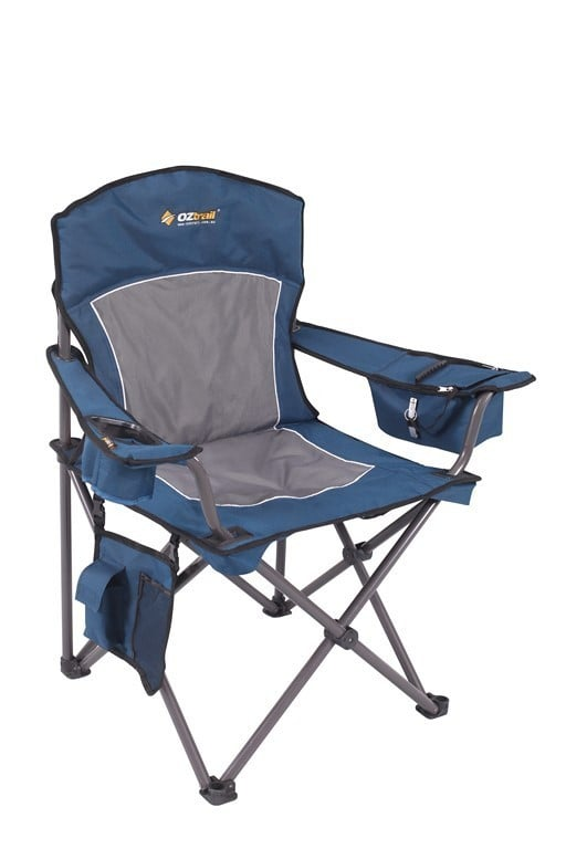 OZtrail Regal Arm Chair Blue