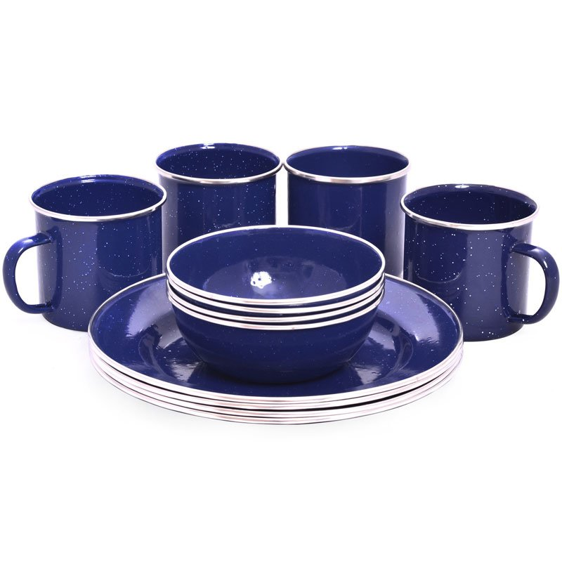 OZtrail Enamel Dinner Set