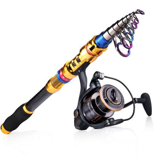 Sougayilang Portable Telescopic Fishing Rod and Reel Combos