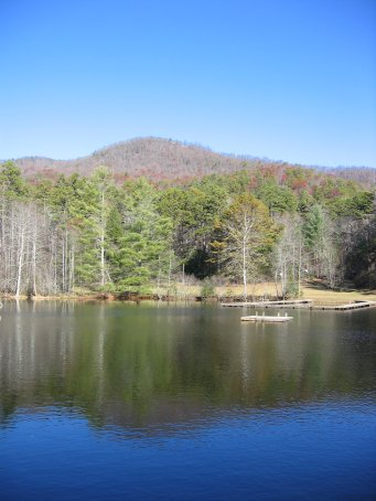 Camp Dixie Lake in the Fall