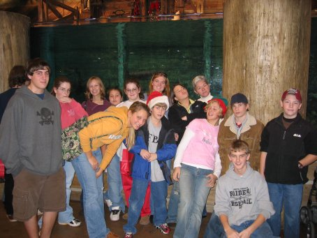 Everybody again, this time in Bass Pro at the fish tank