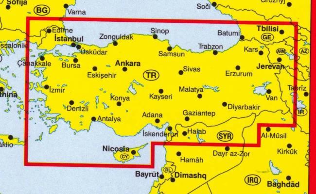 Turchia Carta Stradale