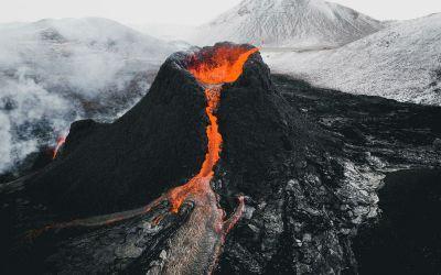 Vulkan – Fagrahraun in Island