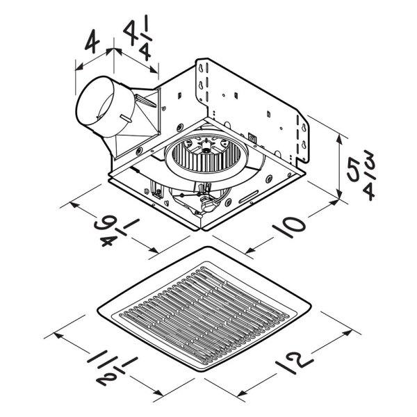 Broan Ae50 - Invent Series 50 Cfm 0.5 Sones Single-speed
