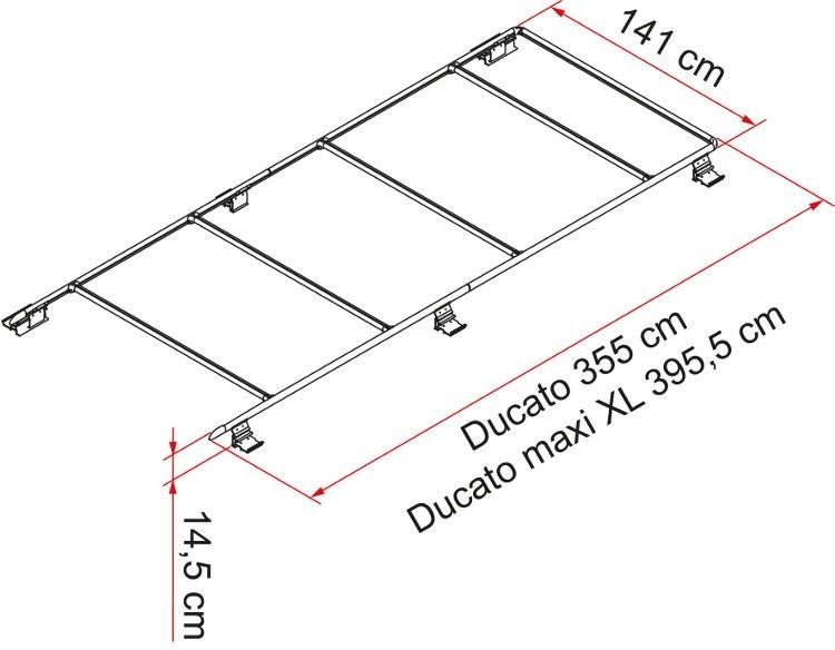 Fiamma Roof Rail Ducato F65 S and Fiamma Roof Rail Ducato