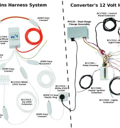 wiring harness as well as 12 volt 30 relay also rv water pump wiring rv 12 volt wire harness [ 2000 x 1200 Pixel ]