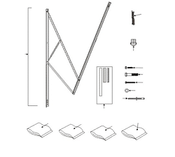 Dometic A&E 9100 Standard Power Awning Hardware