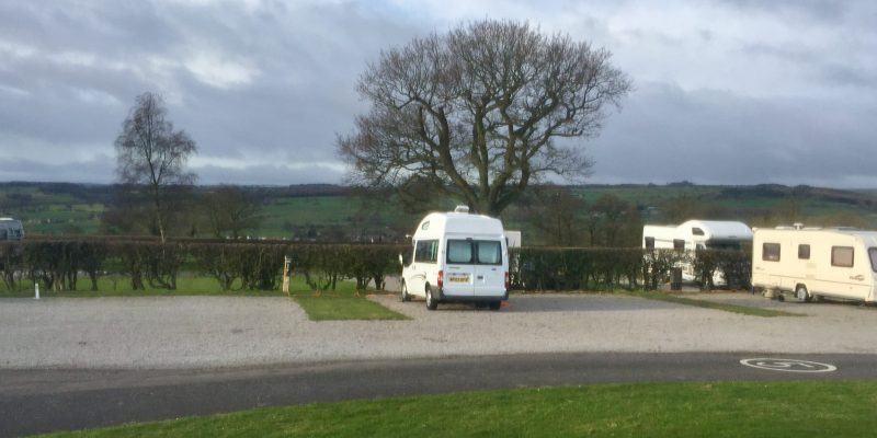 Perfect motorhome club site for walking the Yorkshire Dales