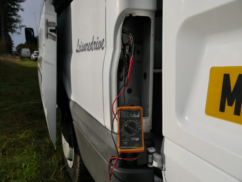 garmin backup reversing camera onstalltion on a ford transit campervan