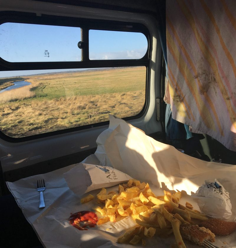 the best fish and chips in Britain enjoyed on Orford Ness