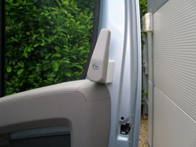 Milenco cab door lock for motorhomes needs fitting but is lockable with a key