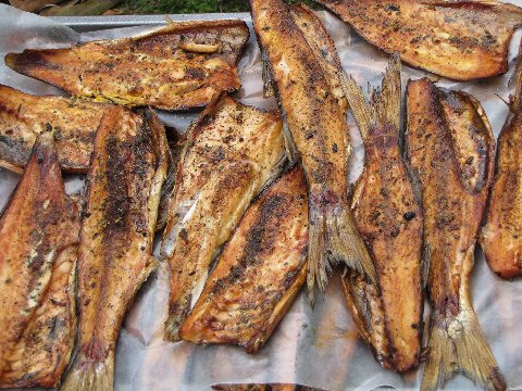 Smoked fish bujol breakfast