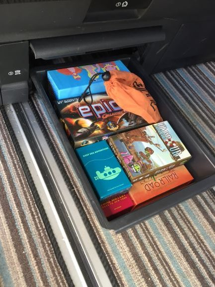 game drawer in our camper, lots of fun
