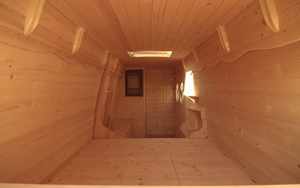 Man Turns Work Van Into DIY Motorhome Tiny Cabin  Campervan Finder