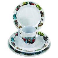 VW Collection by BRISA * Melamine Tablewear Set * VW Camper Bus T1 T2 * 8 pcs.