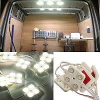 AUDEW 40 LED White Interior Light Kit For LWB Van Lorries Sprinter Ducato Transit VW