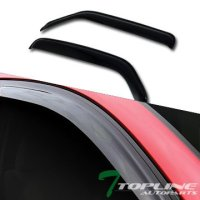 Topline Autopart Sun/Rain/Wind Guard Smoke Tint Shade Deflector Window Visors 98-03 Dodge Ram Van