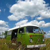 Hippie Van Camping images