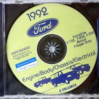 COMPLETE 1992 FORD TRUCK, PICKUP & VAN FACTORY REPAIR SHOP & SERVICE MANUAL CD - INCLUDES Bronco, F-150, F-250, F350, Econoline E-150, E-250, E-350, F-Super Duty -COVERS Engine, Body, Chassis & Electrical. 92