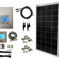 WindyNation 200 Watt (2pcs 100 Watt), 12 24 Volt Solar Panel + MPPT Solar Charge Controller Complete Kit for RV's, Boats and Off-Grid
