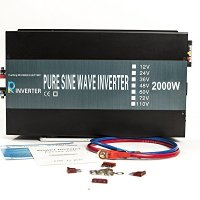 Reliable 2000w Pure Sine Wave Inverter 12v 120v 60hz LED Display Solar Power Inverter (Black)