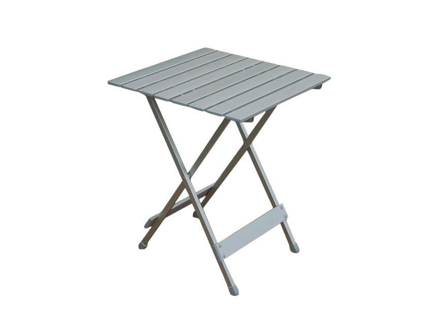 table aluminium 50x50 cm titane anodise