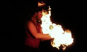 fire, fire show, man