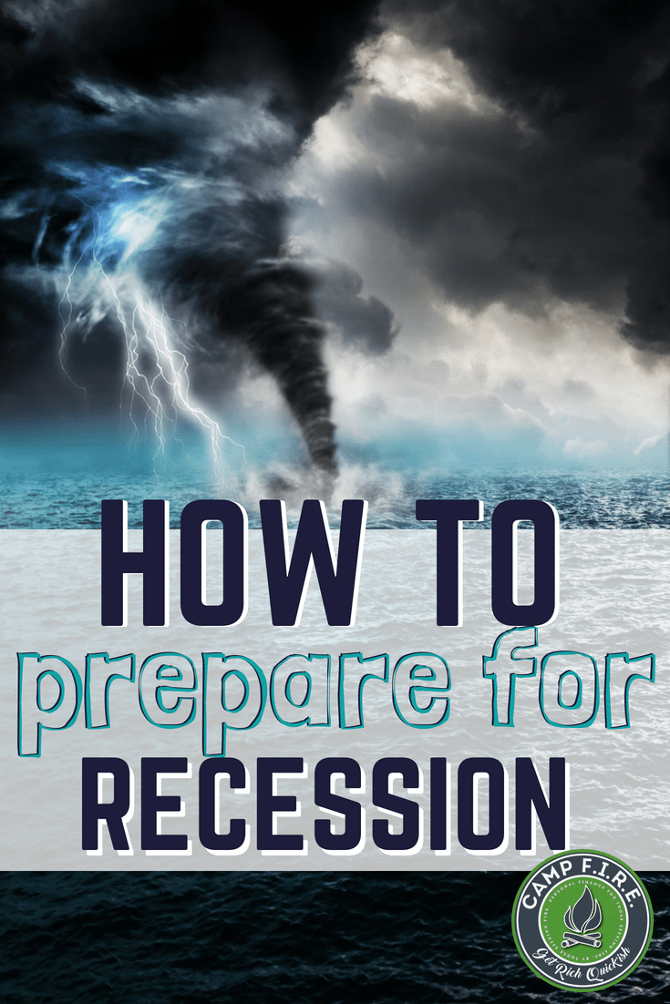 The time to prepare for #recession is now, not once bad times hit. Learn how to prepare for the pending recession today with these 4 tips.  #BePrepared financially so that when the next recession hits, you'll be able to survive the storm.