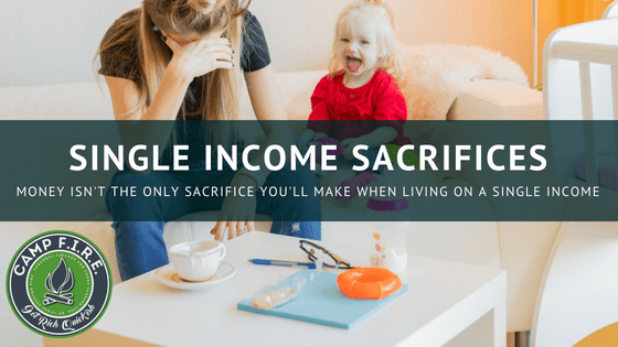 living on a single income